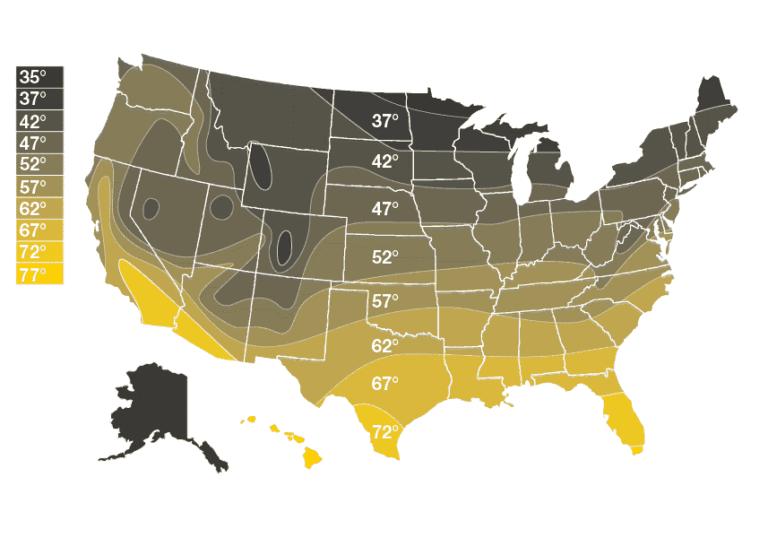Ground Temperature Map